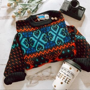 Vintage Christmas Fair Isle Pullover Sweater SZ S